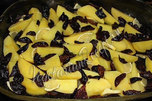 картофель с черносливом