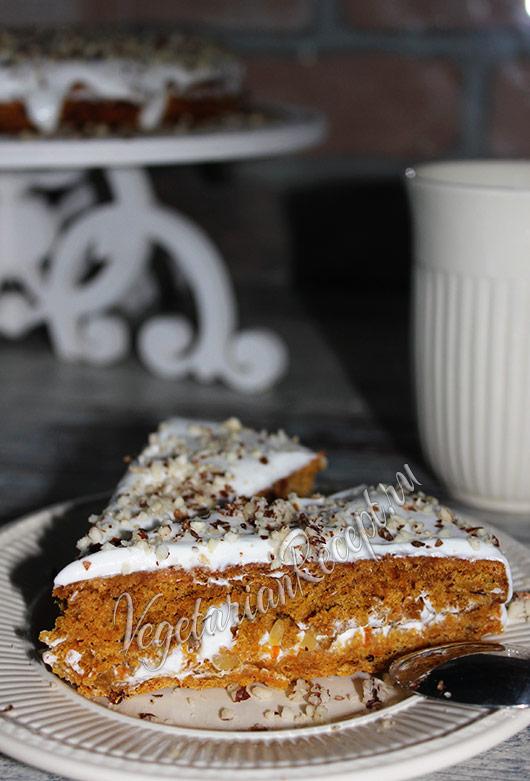 морковный торт - фото