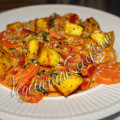 овощное блюдо с сыром