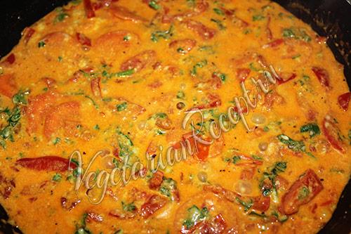 рецепт овощного блюда с сыром