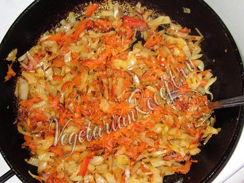 приготовление овощной начинки