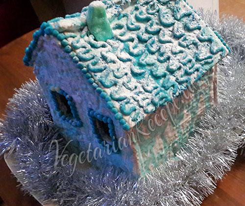 рождественский домик из пряников