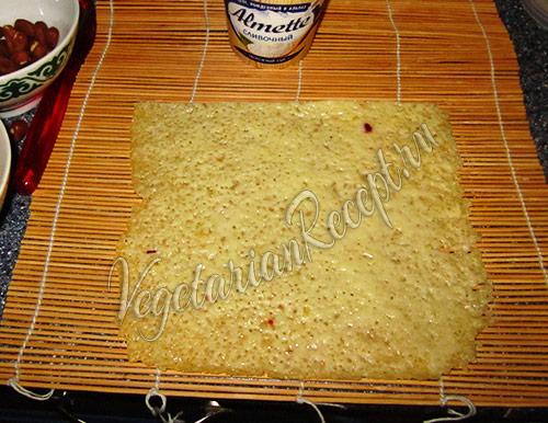 приготовление рулета - запеченный сыр