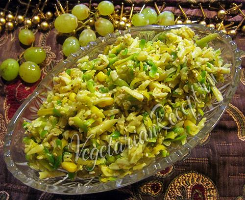 салат с авокадо, сыром и кукурузой - рецепт