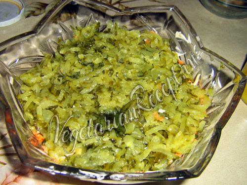 огуречный слой салата