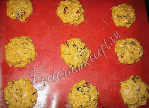 сформированное тыквенное печенье