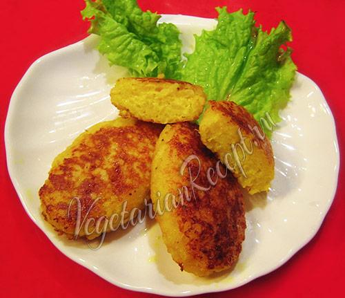 Вегетарианские рисовые котлеты с сыром