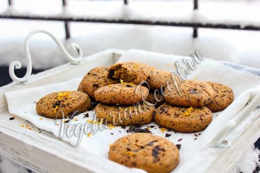 апельсиново-шоколадное печенье
