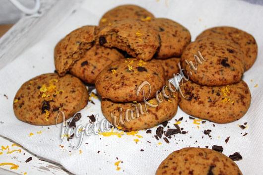 апельсиновое печенье с шоколадом