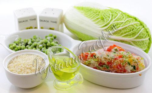 овощи и рис для голубцов
