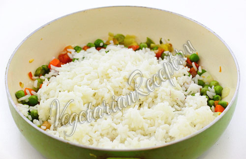 начинка для голубцов - овощи с рисом