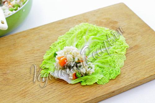 приготовление голубцов с овощами