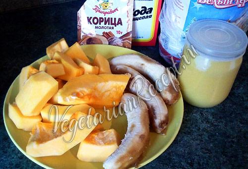 продукты для постных оладий из тыквы