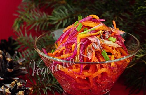 салат с репой, тыквой и морковью