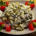 салат с рисом и морской капустой