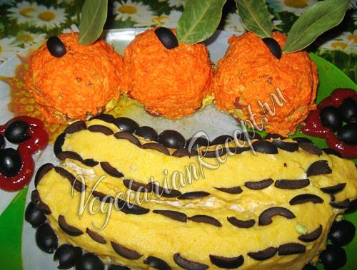 салат в виде фруктов
