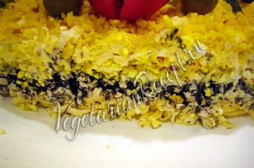 салат мимоза по-вегетариански