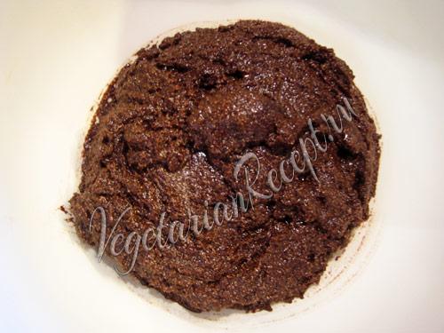 шоколадно-вишневое тесто для маффинов