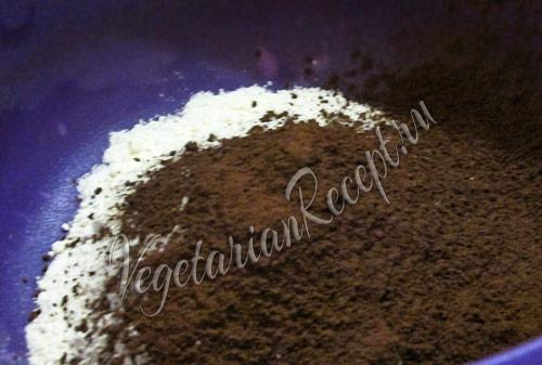 смешиваем сыпучие ингредиенты