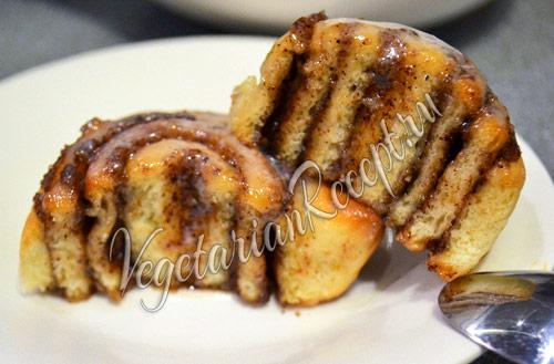рецепт синнабон  - вкусные булочки