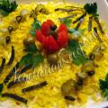 вегетарианский салат мимоза