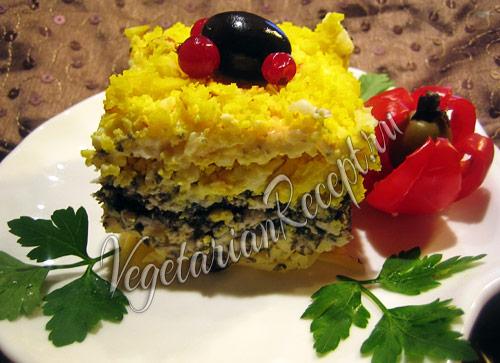 салат Мимоза - вегетарианский рецепт