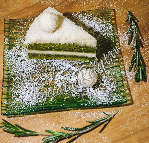 зеленый торт