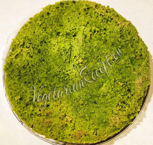 зеленый корж для торта