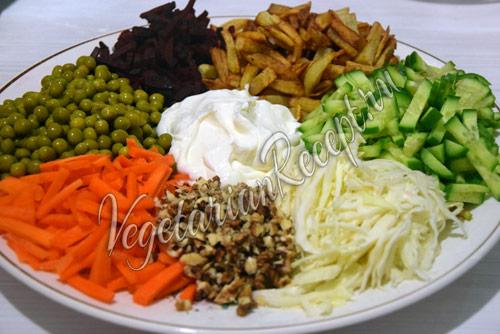 радужный салат фото