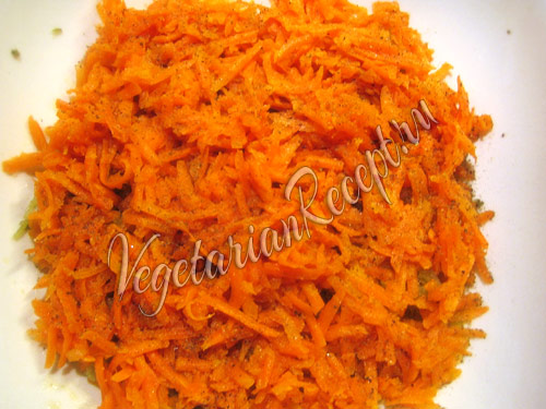 морковный слой салата