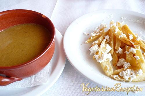 кипрская кухня - суп и картофель