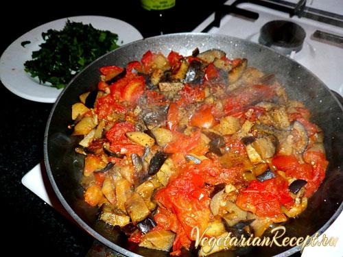 вегетарианское кипрское блюдо
