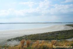соленое озеро в Ларнаке, Кипр