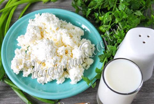 ингредиенты для творожного соуса