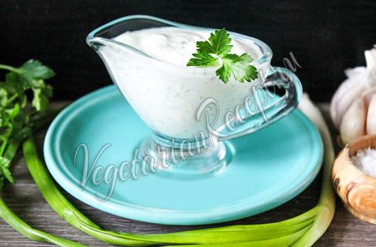 Творожный соус - рецепт