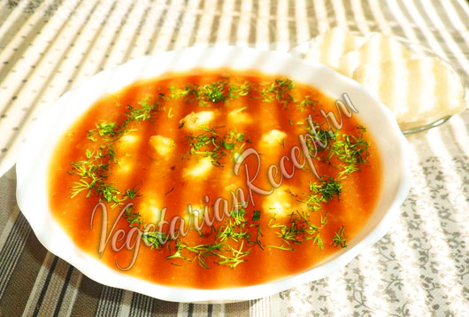 рецепт томатного супа с клецками