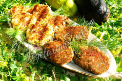 Котлеты из баклажанов и кабачков - рецепт с фото