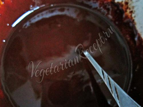 Растопить черный шоколад