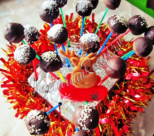 Постные полезные кейк-попсы без выпечки