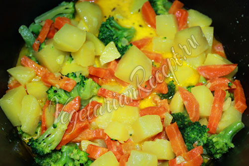 Добавляем к овощам брокколи