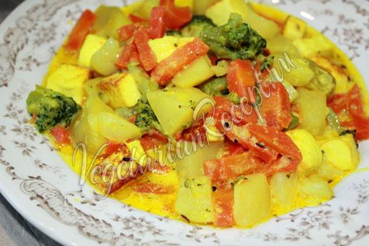 Индийское блюдо сабджи