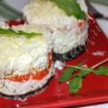 Салат Мимоза без рыбы и без яиц