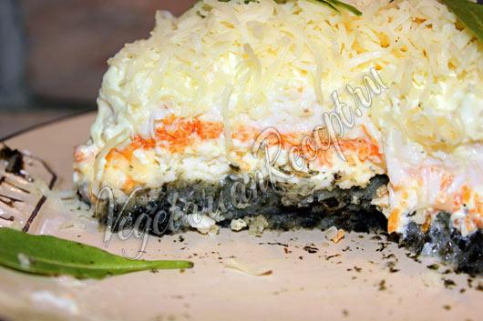 Салат Мимоза без рыбы, яиц - рецепт