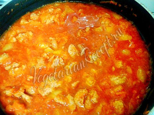 Рецепт приготовления соевого гуляша