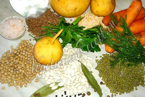 Репа и другие продукты для супа