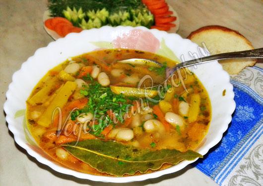 Суп из репы с фасолью