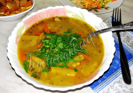 Гороховый суп с репой