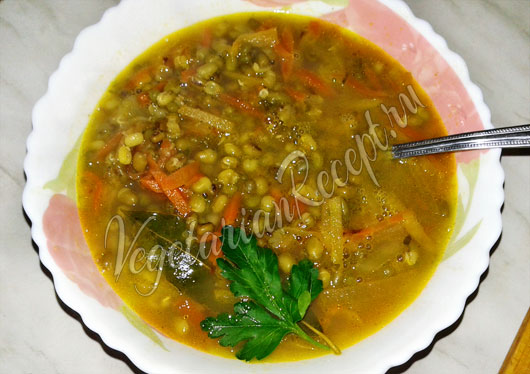 Суп из репы с машем