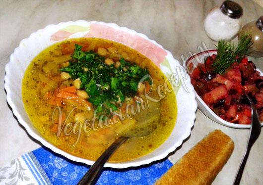 Суп из репы с нутом