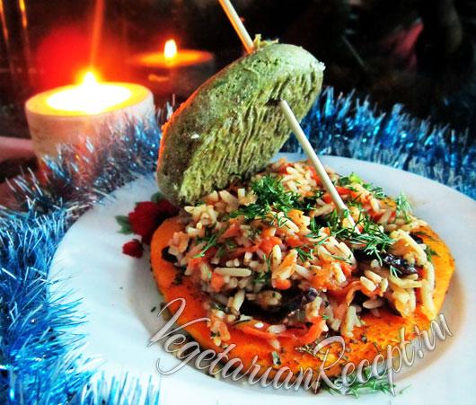 Тыква, фаршированная рисом - рецепт